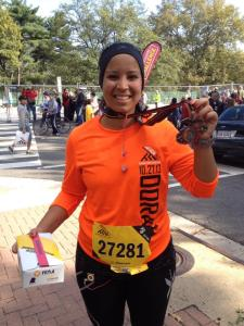Me and my finisher medal at the 2013 MCM!