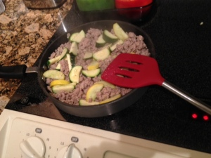 Chop the slices up into 4 pieces-- or use a bigger pan than I have.