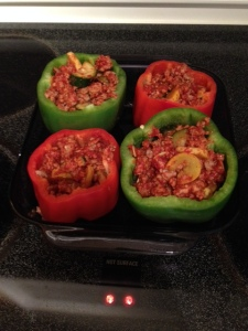 Stuffed Peppers-- it's what's for dinner! (and/or lunch!)