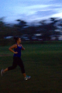 See, this is me running so fast that everything is blurry!