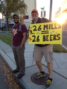 This sign was a hit with all the runners! They earned those beers!